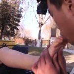 「足舐めなさい!」中国のハレンチ女王様の足を舐めるM男動画