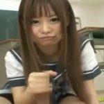 セーラー服の美少女JKに手コキされるM男主観フェラ抜き動画