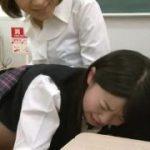 美人の女教師が制服JKをスパンキングする痴女動画www