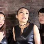 3人のボンテージ女王様にフェラチオされるM男動画ww